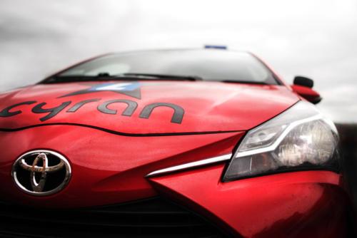 auto czerwone